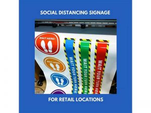 Social Marketing content - Social distancing signature at Bare Bones Marketing in Oakville, Ontario.