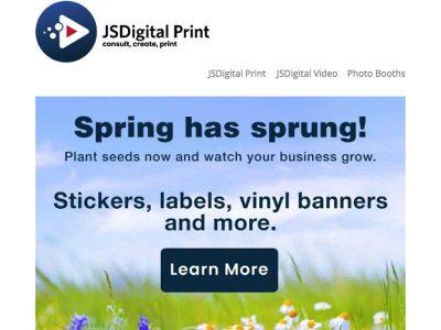 JS Digital Print Email Programs with Bare Bones Marketing.
